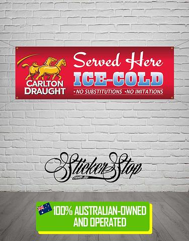 Carlton Draught Banner for Mancave, Garage, Shed or Workshop