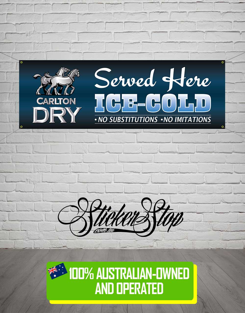Carlton Dry Banner for Mancave, Garage, Shed or Workshop