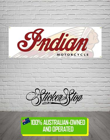 Indian Motorcycle Indian Motorcycle Banner for Mancave, Garage, Shed or Workshop
