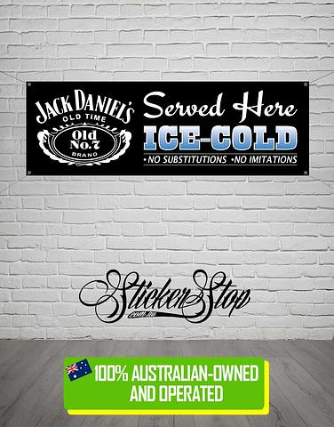 Jack Daniels Banner for Mancave, Garage, Shed or Workshop
