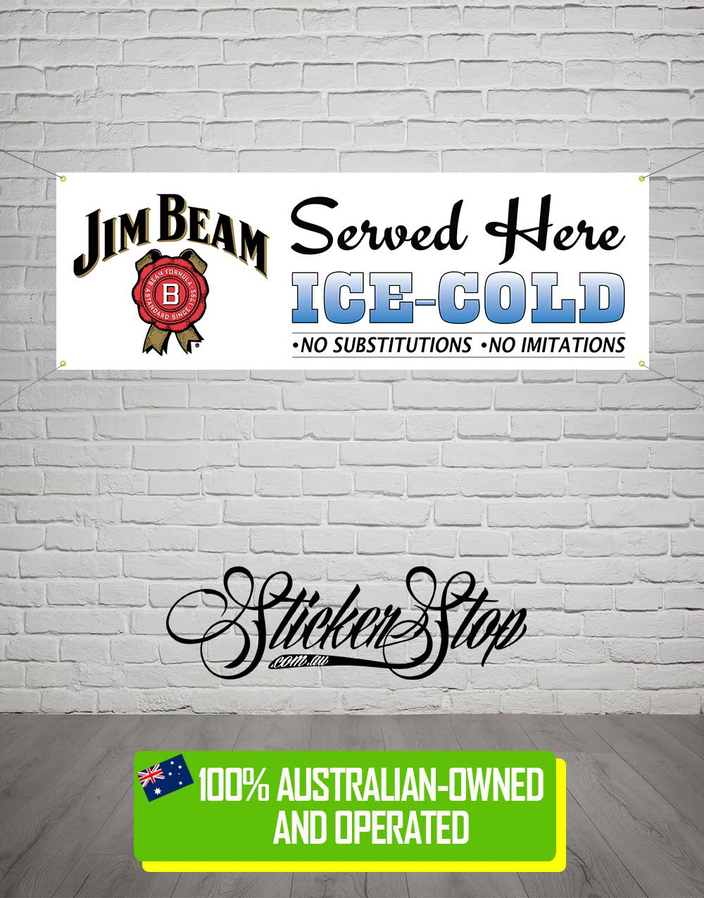 Jim Beam Banner for Mancave, Garage, Shed or Workshop