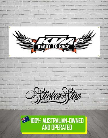 KTM Kenworth Truck Banner for Mancave, Garage, Shed or Workshop