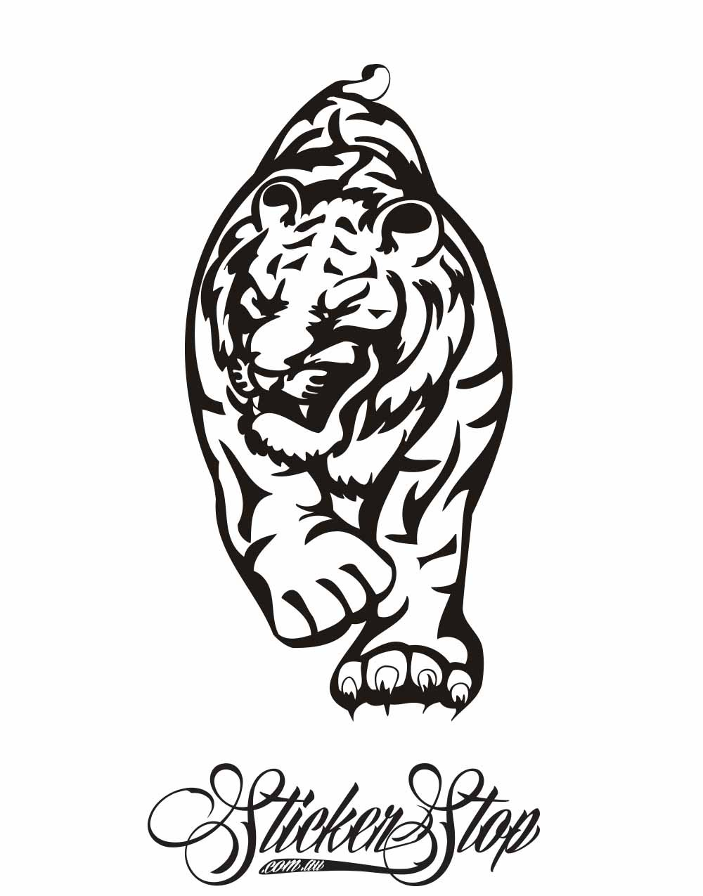 Big Cat Vinyl Sticker | Weather-proof | 8-year life