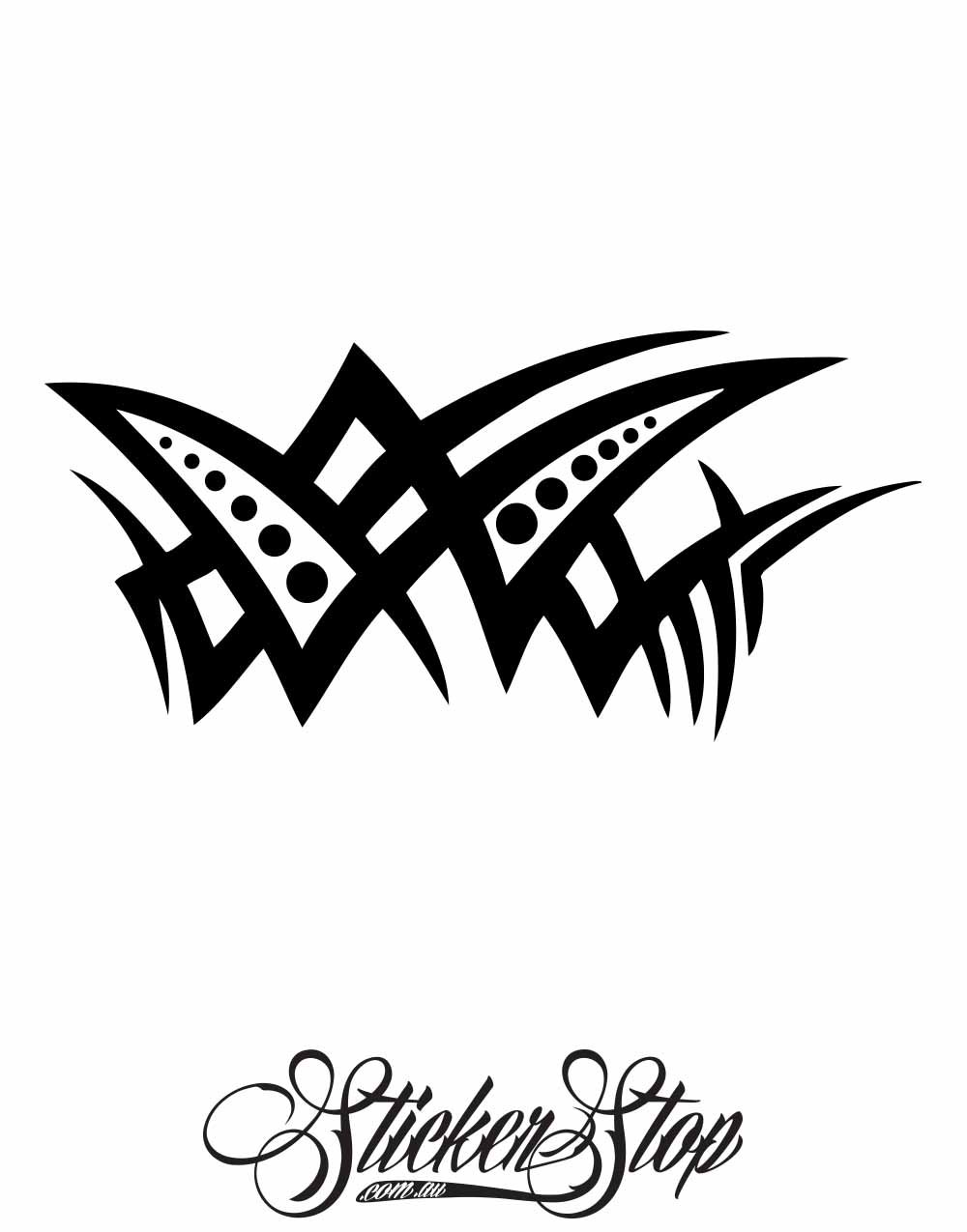 Tribal Vinyl Sticker | Weather-proof | 8-year life