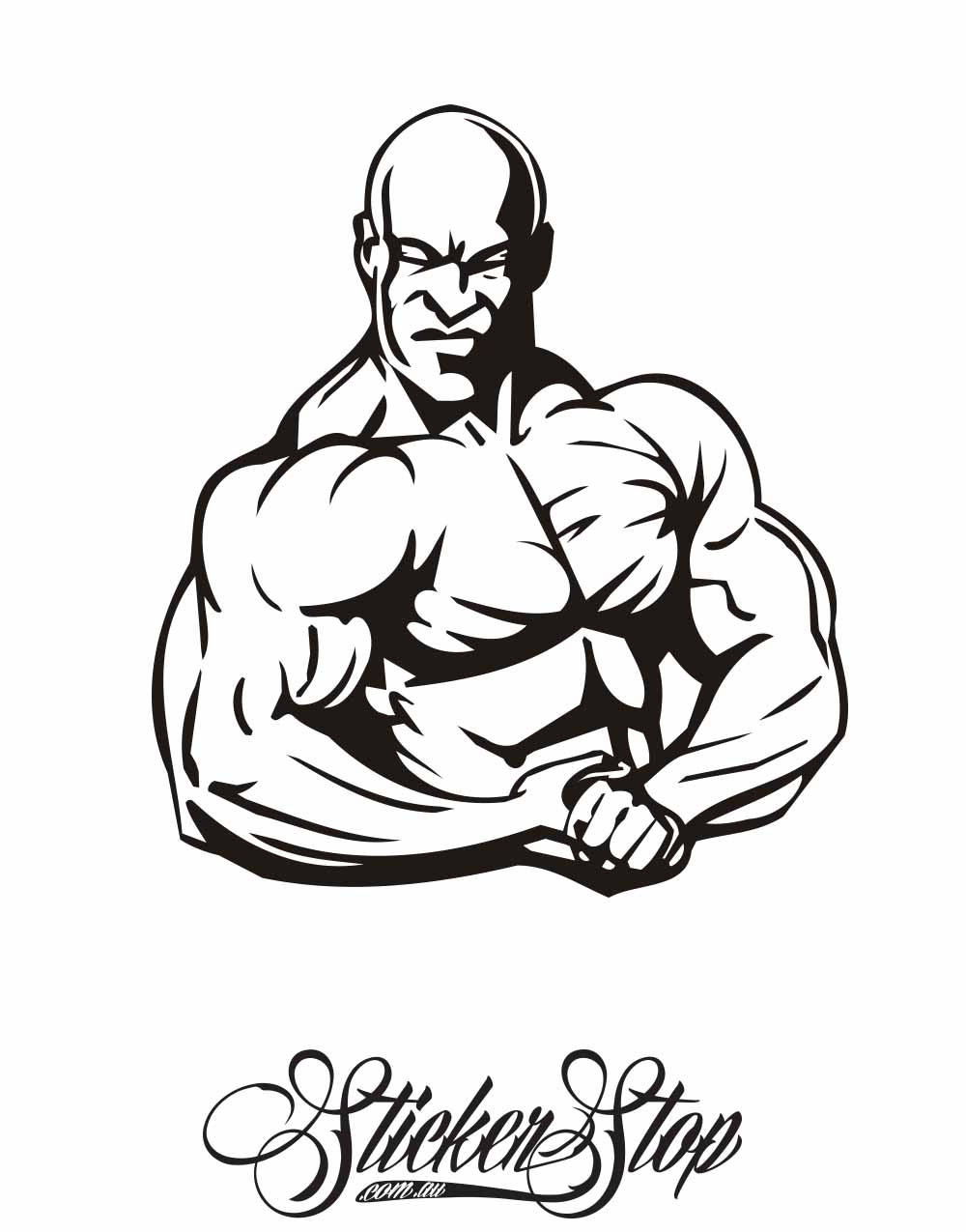 Bodybuilding Fitness Vinyl Sticker | Weather-proof | 8-year life