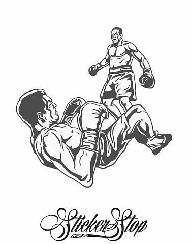 Boxing Fighter Vinyl Sticker | Weather-proof | 8-year life