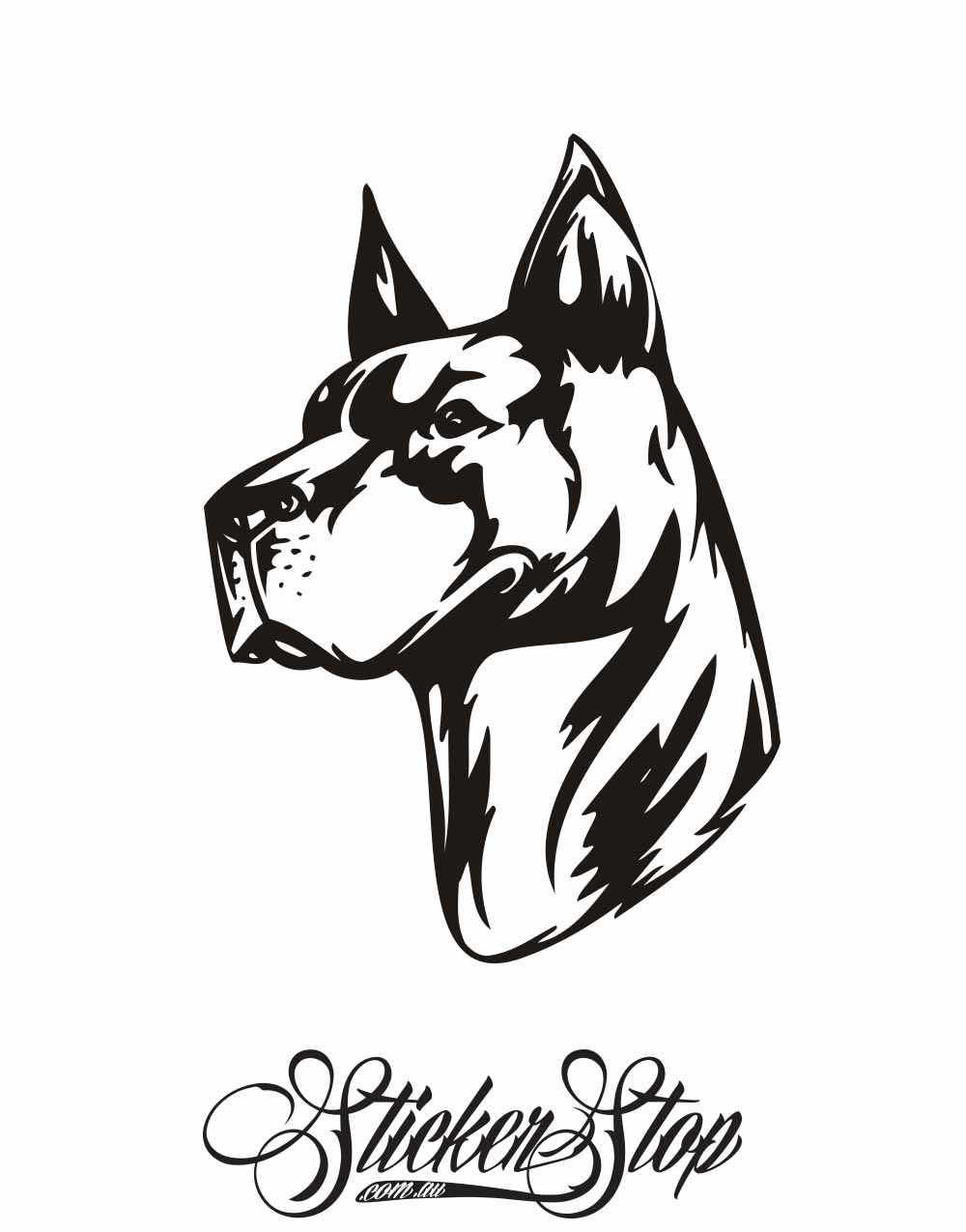 Dogs Animal Vinyl Sticker | Weather-proof | 8-year life
