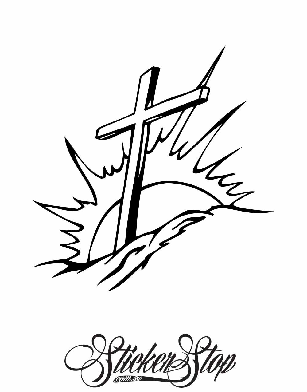 Religion Christian Vinyl Sticker | Weather-proof | 8-year life