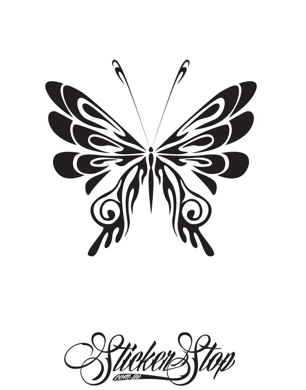 Butterfly Tribal Vinyl Sticker | Weather-proof | 8-year life