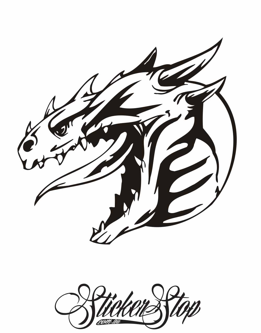 Dragon Vinyl Sticker | Weather-proof | 8-year life